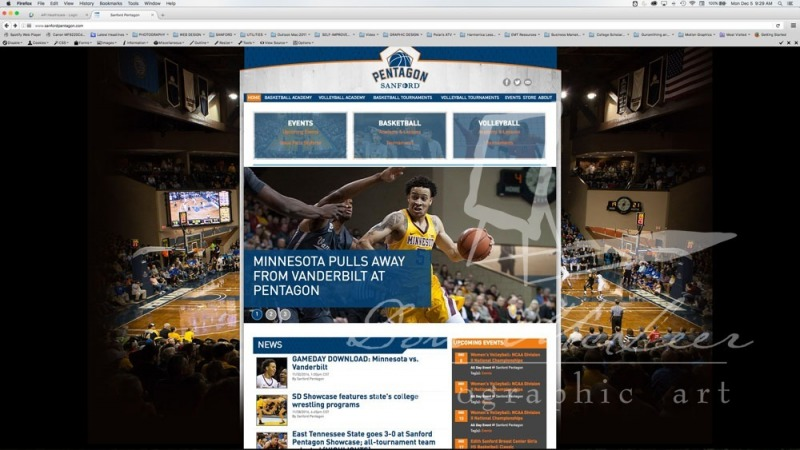 Pentagon Web Site Screen Shot-UofM Basketball Photo