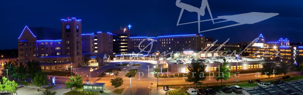 USDMC Main Campus Night Time Panoramic-June 2014